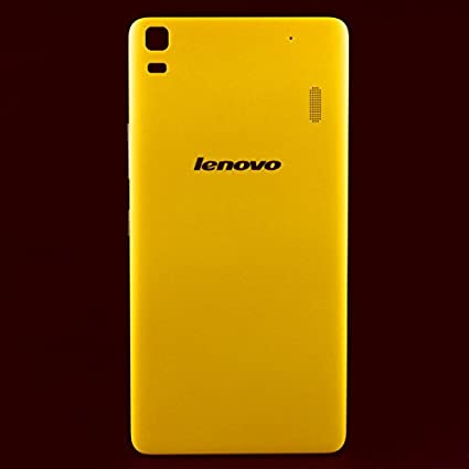 huge selection of a59c1 411ec Delhisalesmart Durable Battery Housing Panel Back Cover for Lenovo K3 NOTE  A7000 (Yellow)