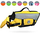 Vivaglory Dog Life Jackets with Extra Padding for Dogs, Medium - Yellow
