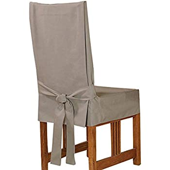Amazon.com: Sure Fit Duck Solid - Shorty Dining Room Chair Slipcover ...