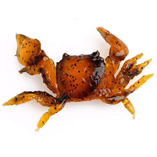(Orange 3D Simulation Crab Crankbaits Tackle Minnow Shrimp Baits Angling Fishing Lure)