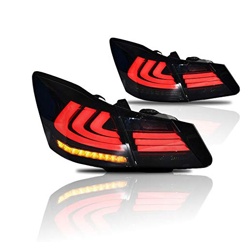 MOSTPLUS Smoke Tinted LED Tail Lights Rear Brake Lamp for HONDA Accord 2013 2014 2015() Set of 2