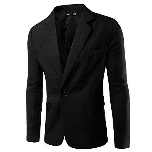 1 Da Libero Fit Bottone Il Qk Con Per Slim Superenger Tempo Uomo A lannister Casual Giacche Blazer black Abbigliamento Chiusura 1 qw87Uat