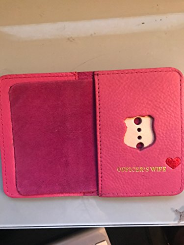 NY POLICE OFFICER WIFE PINK MINI SHIELD AND ID WALLET (Officer Shield)