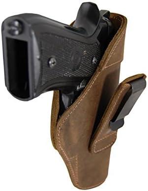 Barsony Holsters & Belts Tamaño 21 Colt Kimber Sig Springfield Derecha marrón Funda de Cuero de tuckable