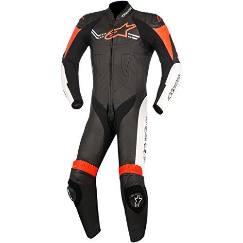 Alpinestars Challenger Men's 1-Piece Street Race Suits - Black/White/Red / 56 by Alpinestars