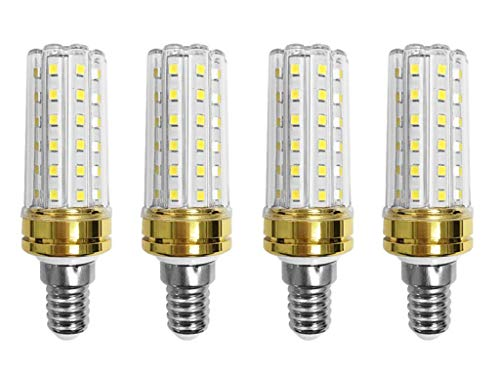JKLcom E14 LED Corn Bulbs 12W LED Candelabra Light Bulbs 100W Incandescent Bulbs Equivalent 12W LED Candle Bulbs,Daylight White 6000K,E14 Small Base,Non-Dimmable,Pack of 4