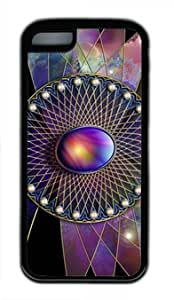 Purple Crystal Iphone 5C Black Sides Rubber Shell TPU Case by Shocklock