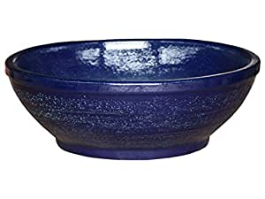 K & K Bonsai Pot de fleurs Bleu Plat 38,0x 16,0cm Fabriqué à partir de Céramique résistante au gel