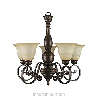 Hampton bay carina 5 light chandelier amazon hampton bay carina 5 light chandelier aloadofball Choice Image