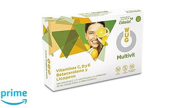 WUG Multivit Chicle | Vitaminas C, D y E, Té Verde y Granada ...