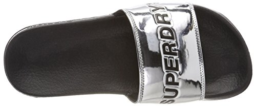 Superdry 05y City Chrome Slide Femme Tongs Gris BwvqUTBx