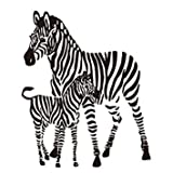 zebra decal - TOOGOO(R) Creative 3D Zebra Wall Stickers Home Decor Living Room Children's Room Decor Removable Wall Stickers Decals,black