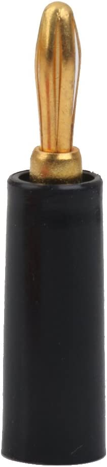 4mm Banana Plug Connectors Adapter Speaker 10pcs Black+Red
