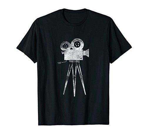Retro Camera Cameraman Filmmaker Movie Director T Shirt Tee