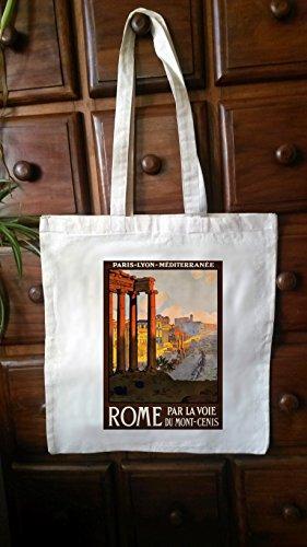 Cotton Tote Bag shopper vintage travel posters (Vintage Shopper)