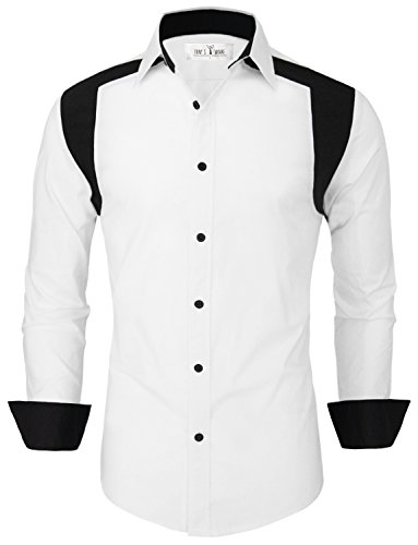 Tom's Ware Mens Stylish Two Toned Button Down Shirt