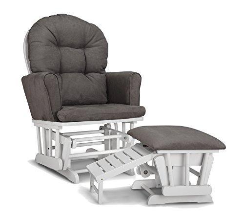graco parker glider and nursing ottoman whitegray - Nursing Rocking Chair