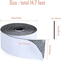 1 Pack Self Adhesive Felt Tape Polyester for Furniture and Hard Surfaces