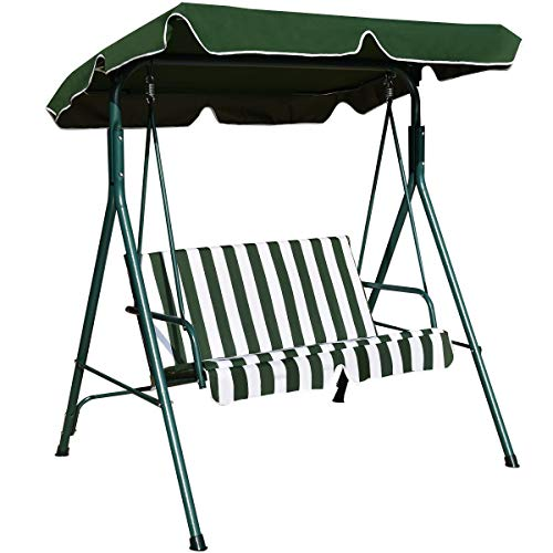 Amazon Com Tangkula 2 Person Canopy Swing Weather