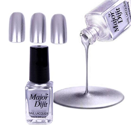 Inverlee Mirror Metallic Effect Nail Art Polish Metal Color