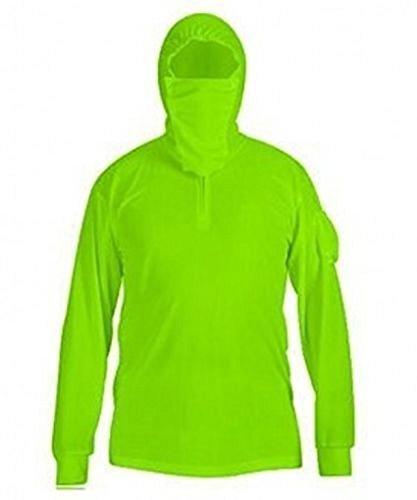 Venxic Men's Fishing Shirts for Men Long Sleeve uv Protection, Quick Dry Sun Shirt/w Thumb Hole (Green, XXX-Large) ()