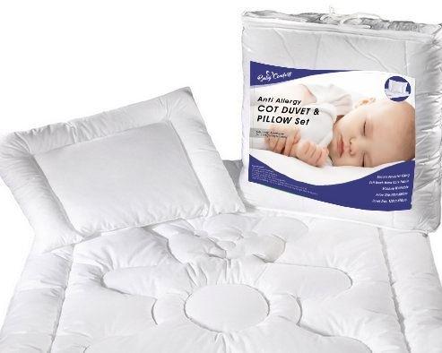 Lit pour junior Couette et oreiller Garnissage de Lot de 150x 120cm 100% coton Opt. 8 Baby Comfort