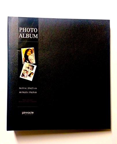 Plain Black Imitation Leather Photo Album Holds 80 8 Inch X 10 Inch Photos