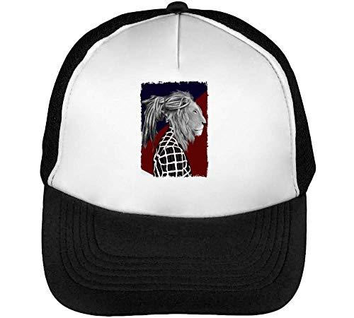Snapback Beisbol Rastafari Graphic Lion Hombre Man Blanco Negro Dreaded Gorras wYfq1ax