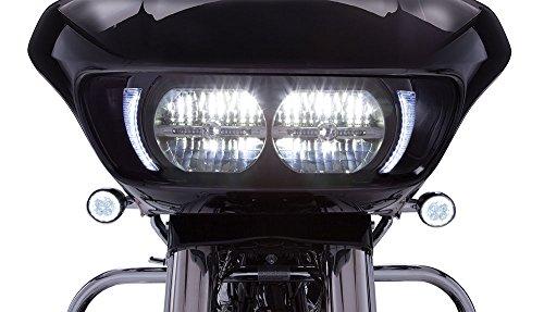 Fang Headlight Bezels for Harley Davidson Road Glide (Black)]()