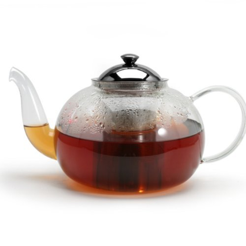 Borosilicate Glass Teapot with Laser Cut Stainless Steel Infuser