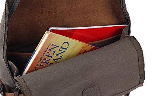 Harold's Twister Aktentasche mit Rucksackfunktion Leder 34 cm Laptopfach