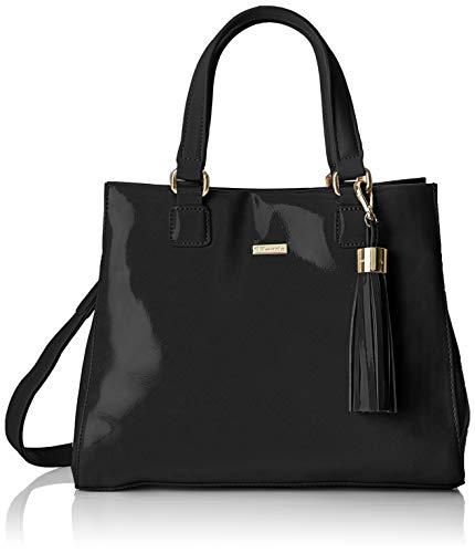 Tamaris - Sac à main Madina, sac pour femme noir (peigne noir)