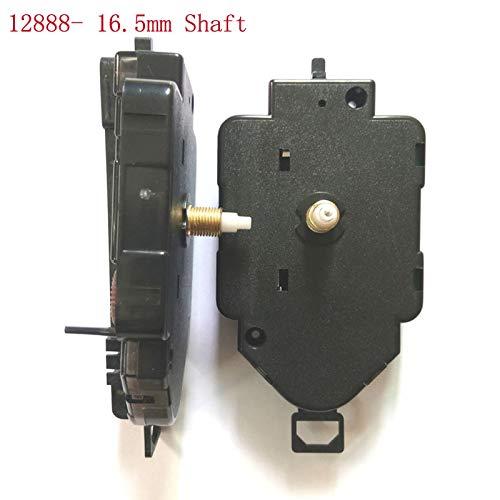 Maslin 5set 16.5mm Shaft Swing Movement Quartz Clock Movement for Clock Mechanism Repair DIY Clock Parts Accessories The Real 12888