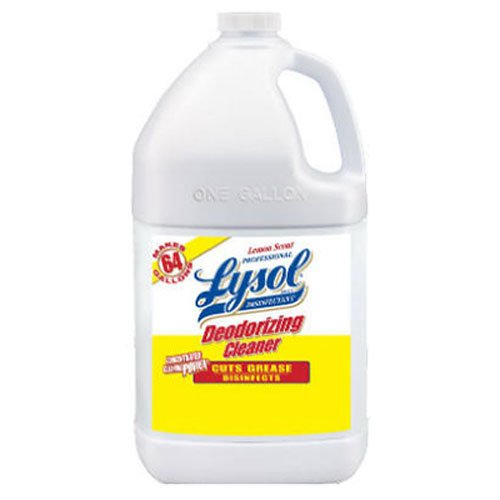 Professional Lysol Deodorizing Cleaner Concentrate, Lemon, 128oz