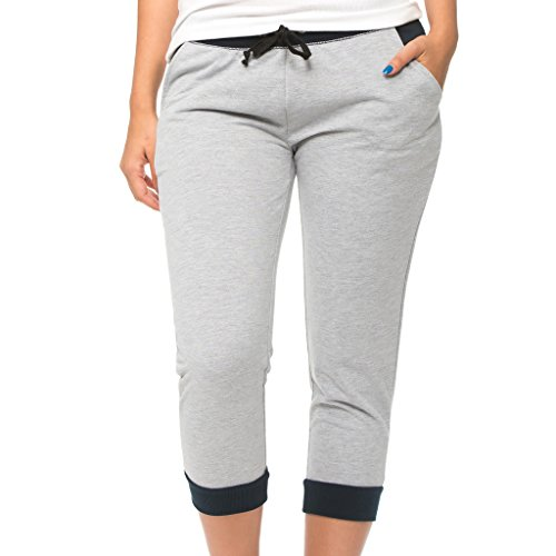 [E395XC-HG-2X] Coco-Limon Plus Size Cropped Joggers, French Terry