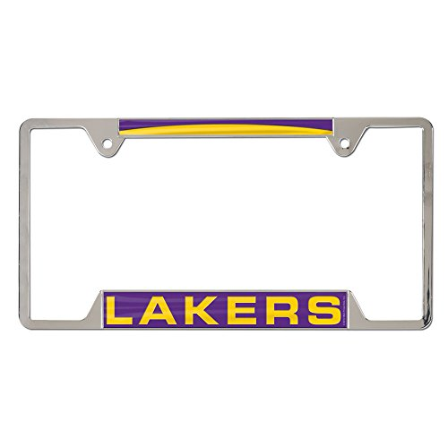 NBA Los Angeles Lakers Inlaid Metal License Plate Frame, 4-Tag Corners by WinCraft
