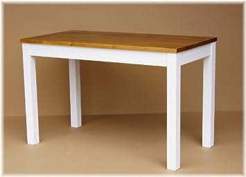 Esstisch Kuchentisch Tisch Massiv Kiefer Holz Weiss Neu