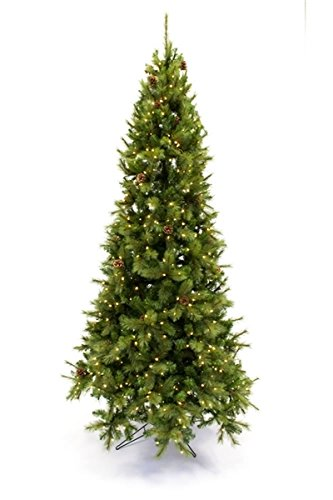 direct export 9 slim dresden pine wcones prelit artificial christmas tree
