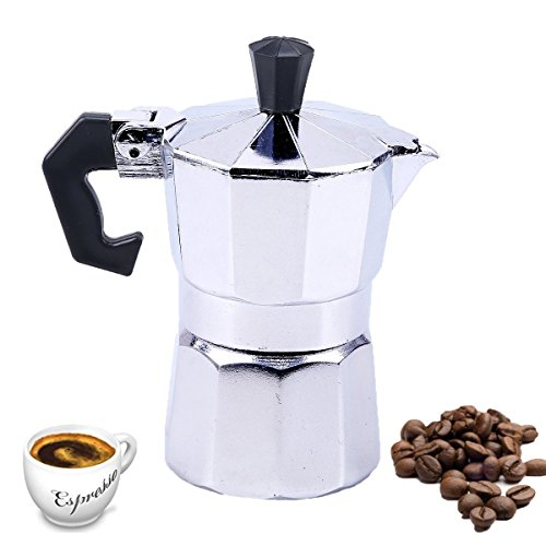 WCIC 1 Cup 50ML Aluminum Stove Top Expresso Coffee Percolator Moka Pot