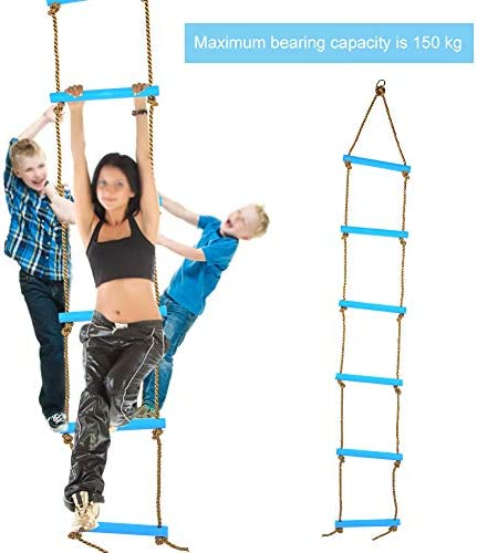 Playground Tree House Sanmubo Climbing Rope Ladder Swing Fun Toy Indoor//Outdoor Rope Ladder Climbing Game for Swing Accessories Play Set