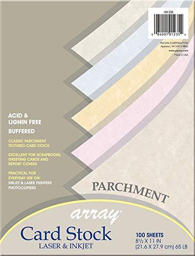 (Pacon Card Stock, Parchment Assortment, 5 Colors,  8-1/2