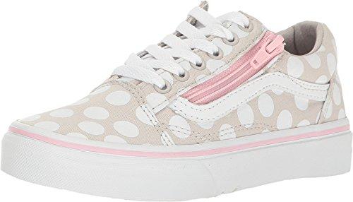 Vans VA38HEMMY Kids Old Skool Zip (Polka Dot) Shoes, Wind Chime/Pink Lady, 13 Little Kid M (Girl Vans)
