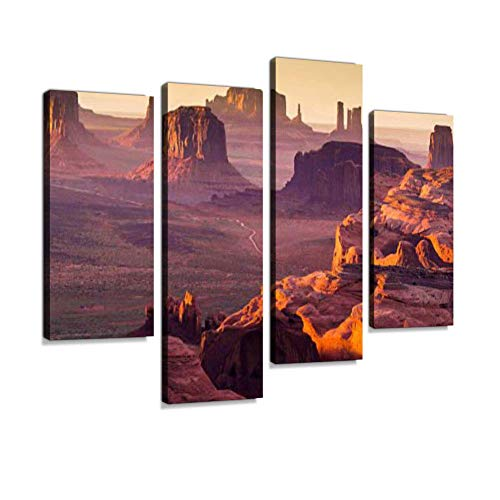 Mesa Hanging - Soefipok The Hunt's Mesa Canvas Wall Art Hanging Paintings Modern Artwork Abstract Picture Prints Home Decoration Gift Unique Designed Framed 4 Panel