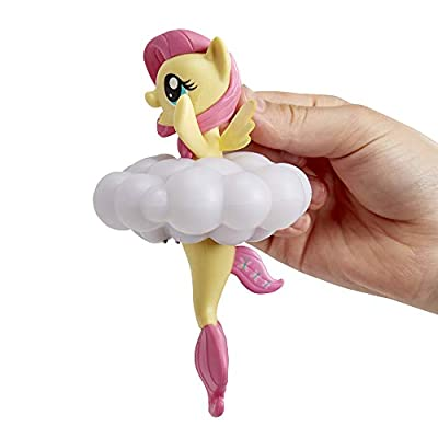 My Little Pony Toy Rainbow Lights Fluttershy -- Floating Water-Play Seapony Figure with Lights, Kids Ages 3 Years Old & Up: Toys & Games