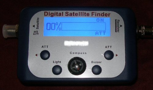 WS International DSF120 C Digital Satellite Finder HD FTA Directv Dish with audio, backlight compass by WS International