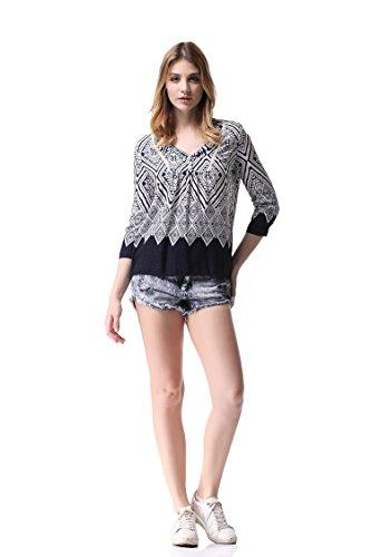 Pau1Hami1ton 4 Loose Shirt Femme G Casual 3 Shirts Chiffon T Manches 3 Blouses 06 Tunique Tops Fit r1HrXqz