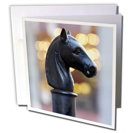 - 3dRose Hitching Post, New Orleans, Louisiana - US19 FVI0011 - Franklin Viola - Greeting Cards, 6 x 6 inches, set of 12 (gc_90468_2)