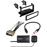 Car Radio Stereo CD Player Dash Install Mounting Trim Bezel Panel Kit + Harness W/ SiriusXM SXV300v1 Satellite Radio Vehicle Tuner Kit