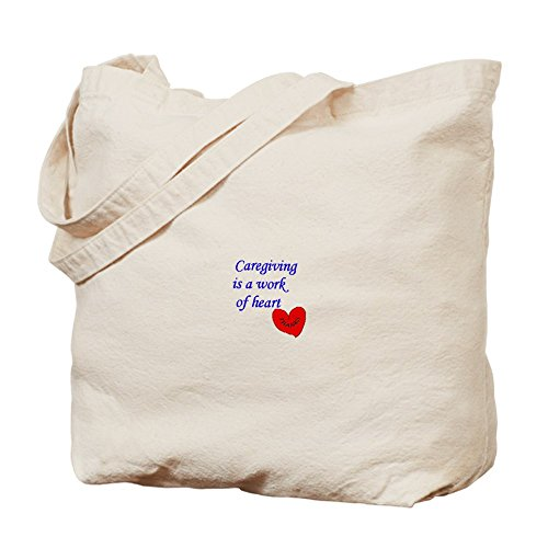 Cafepress – Caregiver Thank You Gifts – Borsa di tela naturale, tessuto in iuta