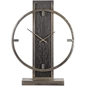 Amazon.com: Mid Century Modern Bronze Silver Desk Clock ...